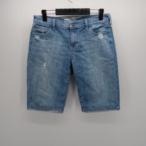 Old Navy Cuffed Knee Length Sweetheart Jean Shorts